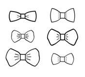 Hand-drawn bowties set Stock Photos
