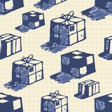 Hand drawn boxes Royalty Free Stock Image