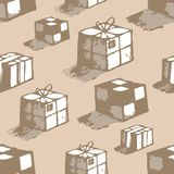 Hand drawn boxes Stock Images