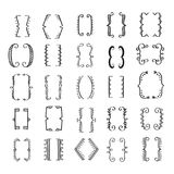 Hand Drawn Bracket Big Set. Beautiful Vector Decorative Design Elements Collection Stock Images