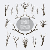 Hand drawn branches and trees Stock Photos
