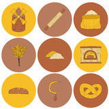 Hand drawn bread harvest objects Royalty Free Stock Photos