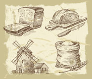 Hand drawn bread stock illustration