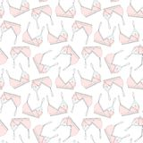 Hand drawn breastfeeding bra seamless pattern Royalty Free Stock Photos