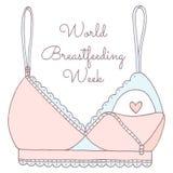 Hand drawn breastfeeding bra Stock Photo