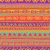 Hand drawn bright and fresh  folkloric seamless pattern Stock Photos