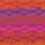 Hand drawn bright tribal seamless pattern Royalty Free Stock Photo