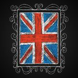 Hand drawn british flag. Stock Photography