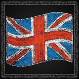 Hand drawn british flag. Stock Image