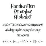 Hand drawn brush ink vector ABC upper and lower case letters set. Doodle comic font for your design. Hand drawn alphabet. Uppercase, lowercase letters and Stock Photography
