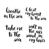 Hand drawn brush lettering quotes vector royalty free illustration