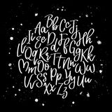 Hand drawn brush letters. Vector alphabet. Hand drawn letters written with a brush Royalty Free Stock Images
