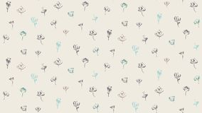 Hand drawn brush paint flowers seamless pattern. Vector floral background. Endless repeating texture. Hand drawn brush paint flowers seamless pattern. Vector Royalty Free Stock Photo