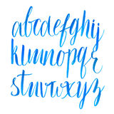 Hand drawn brush script font. Vector type royalty free illustration
