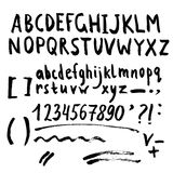 Hand drawn brush stroke font Royalty Free Stock Images