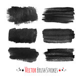 Hand drawn brush strokes Stock Images