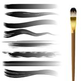 Hand drawn brush strokes set Royalty Free Stock Photo