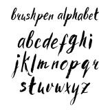 Hand drawn brushpen alphabet Stock Photo