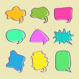 Hand Drawn Bubble Chat Set Stock Photo