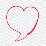 Hand drawn bubble speech Illustration symbol design