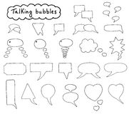 Hand drawn bubbles set Royalty Free Stock Photos