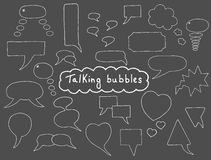 Hand drawn bubbles set Royalty Free Stock Images