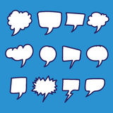 Hand drawn bubbles speech Royalty Free Stock Images