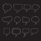 Hand drawn bubbles speech. An images of Hand drawn bubbles speech Royalty Free Stock Photography