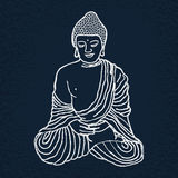 Hand drawn Buddha illustration. Stock Photo