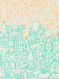 Hand drawn buildings/houses Stock Photos