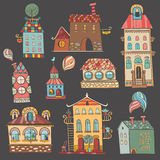 Hand drawn buildings in vintage style Royalty Free Stock Photo