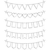 Hand Drawn Bunting Royalty Free Stock Image