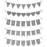 Set of bunting flags Royalty Free Stock Photography
