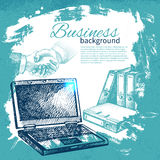 Hand drawn business background Stock Photos