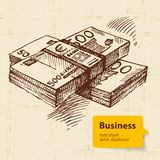 Hand drawn business background Royalty Free Stock Photo