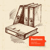 Hand drawn business background Stock Photography