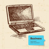 Hand drawn business background Stock Images