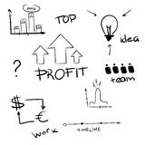 Hand drawn business concept Stock Image