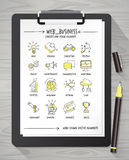 Hand drawn business concepts Royalty Free Stock Image