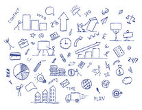Hand drawn business doodle element Stock Photos