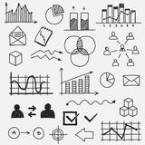 Hand drawn business doodle sketches elements Royalty Free Stock Image
