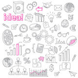 Hand Drawn Business Doodles vector set Royalty Free Stock Image