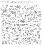 Hand Drawn Business and Finance icons. royalty free stock photos