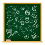 Hand drawn business icons Stock Photography
