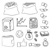 Hand drawn business icons. This is file of EPS10 format Stock Photography