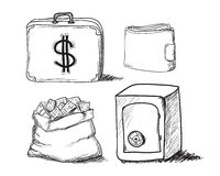 Hand drawn business icons Royalty Free Stock Photo