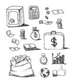 Hand drawn business icons. This is file of EPS10 format Royalty Free Stock Images