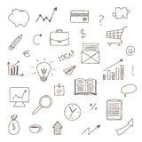 Hand Drawn Business Icons Stock Photo