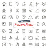 Hand-Drawn Business Icons. Large set of hand-drawn business icons. Only solid fills used. File format is EPS8 Royalty Free Stock Image
