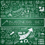 Hand drawn business icons set Stock Photo